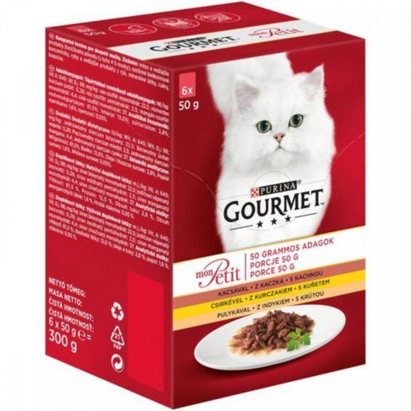 Gourmet Mon Petit Kacsával, Csirkével, Pulykával 6x50g