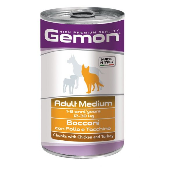 Gemon Dog Médium Pulyka+Csirke 1250g