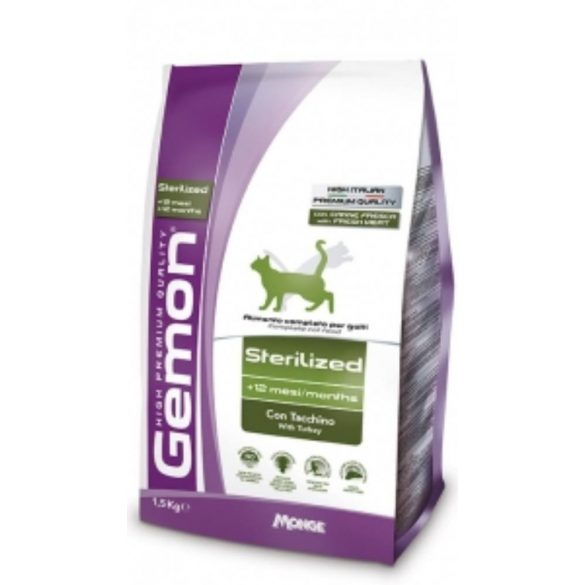 Gemon Cat Steril Pulyka 1500gr