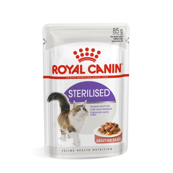 ROYAL CANIN STERILISED GRAVY 12x85g Alutasakos macskaeledel