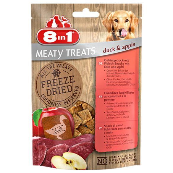 8in1 Meaty Treats fagyasztva szárított kacsa almával 50g