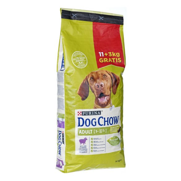 Dog Chow Adult Bárány Kutyatáp 11+3kg