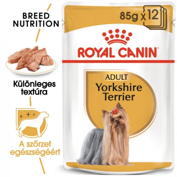 ROYAL CANIN YORKSHIRE TERRIER ADULT 12x85g Alutasakos kutyaeledel