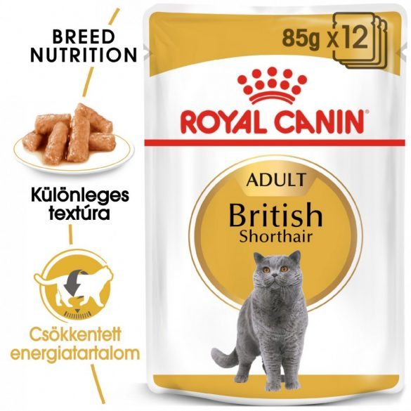 ROYAL CANIN BRITISH SHORTHAIR ADULT 12x85g Alutasakos macskaeledel