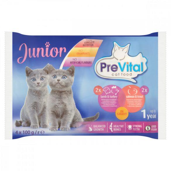 Prevital Junior Bárány + Lazac szószban Alutasakos macskaeledel 4x100g
