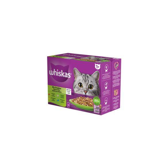 Whiskas Vegyes válogatás Alutasakos macskaeledel 12x100g