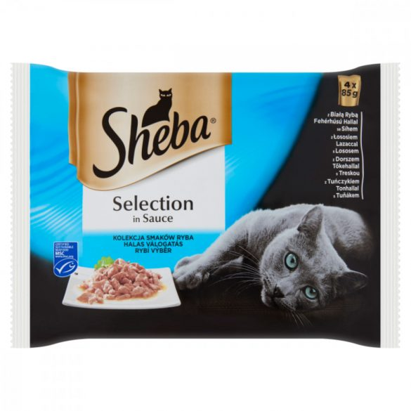 Sheba Halas válogatás szószban Alutasakos macskaeledel 4x85g