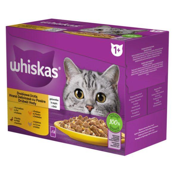 Whiskas Szárnyas válogatás Alutasakos macskaeledel 12x100g