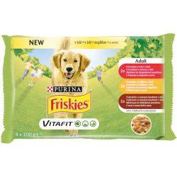 Friskies Dog Adult aszpikos Alutasakos kutyaeledel 4x100g