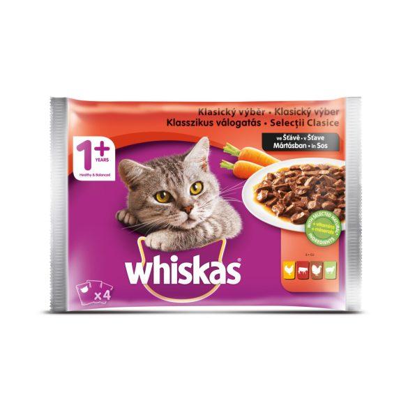 Whiskas 4X100g Klasszikus Válogatás Mártásban BX45L