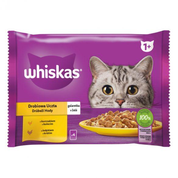 Whiskas 4X100g Szárnyas Válogatás Aszpikban CD32J