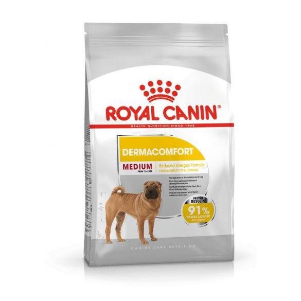 ROYAL CANIN MEDIUM DERMACOMFORT 3kg Száraz kutyatáp