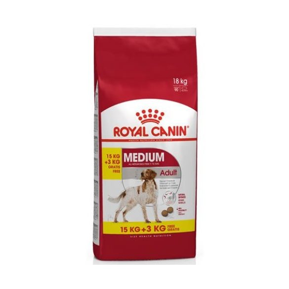 ROYAL CANIN MEDIUM ADULT 15+3 kg Száraz kutyatáp