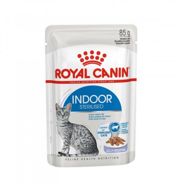 ROYAL CANIN INDOOR JELLY 12x85g Alutasakos macskaeledel