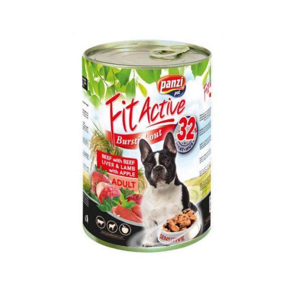FitActive DOG 1240g konzerv Marha+Máj+Bárány