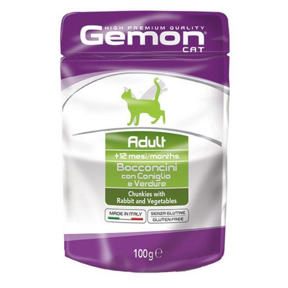 Gemon Cat 100g Alutasak Nyúl+Zöldség