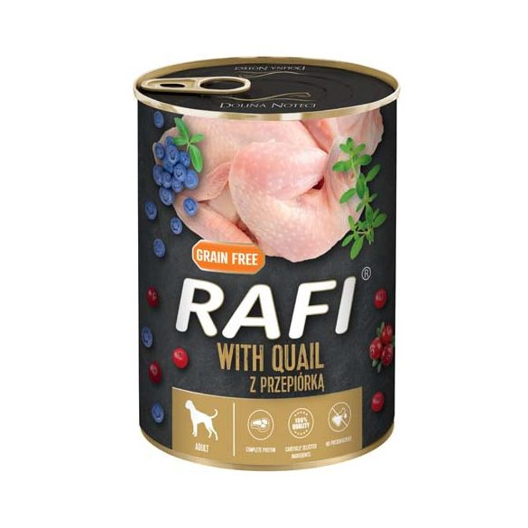 Rafi 400g Adult Pate Fürj Kék és Vörösáfonyával Kutyakonzerv