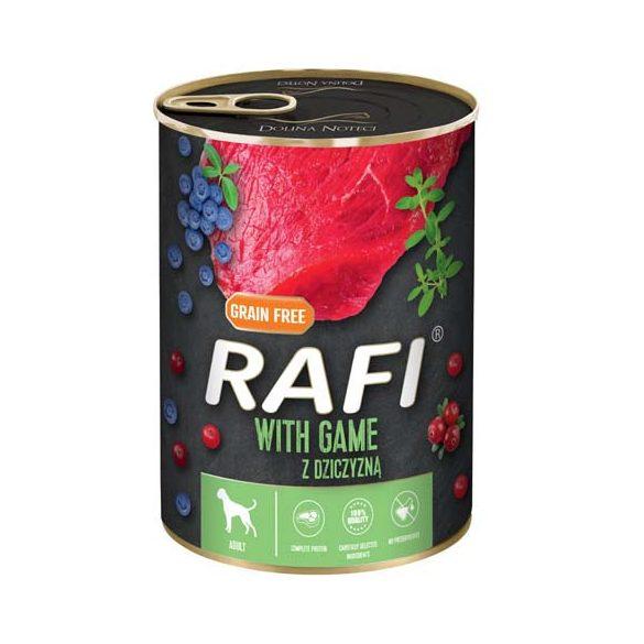 Rafi 400g Adult Pate Vad Kék és Vörösáfonyával Kutyakonzerv