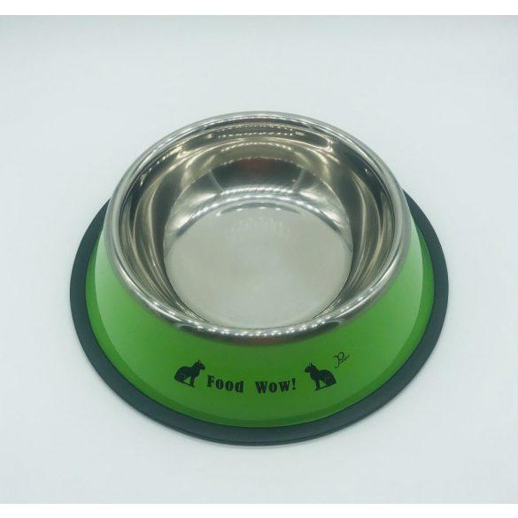 Etetőtál - zöld oldalú, fém 22cm 600ml