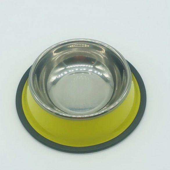 Etetőtál - citromsárga oldalú, fém 18cm 300ml