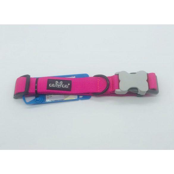 Nyakörv textil - M - 2cm x 38-45cm rózsaszín