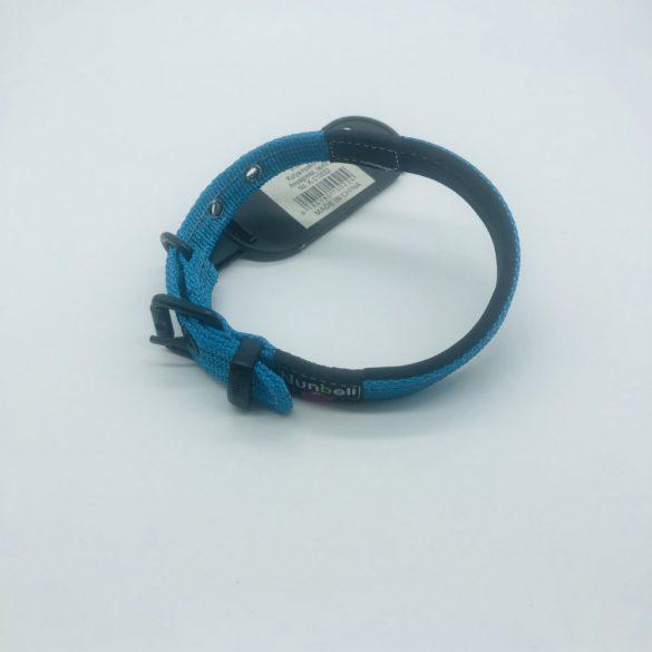 Nyakörv textil - Nunbell - fém csattal 1,5cm x 25-33cm KÉK