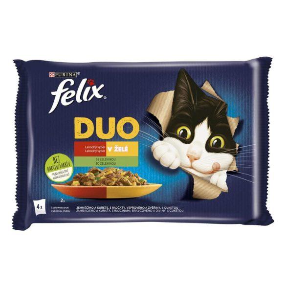 Félix 4x85g Fantastic Duo Csirke + Marha + Pulyka + Bárány Alutasak 932