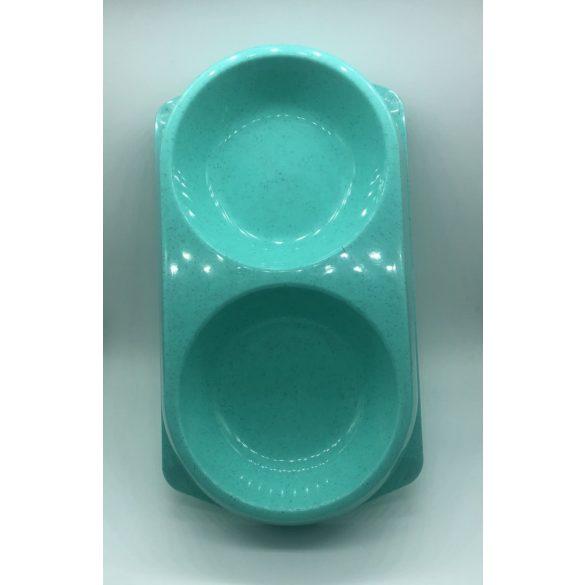 Dupla etetőtál - MENTA, műanyag, 36x20cm 2x530ml