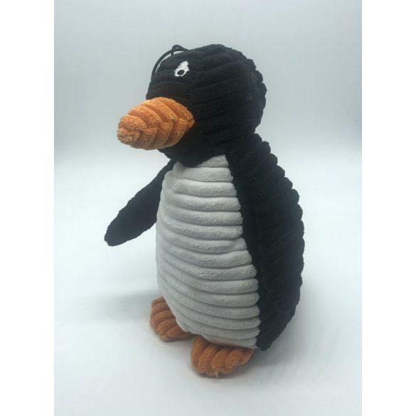 Plüss kutyajáték -pingvin- 30cm - sípolós - fekete