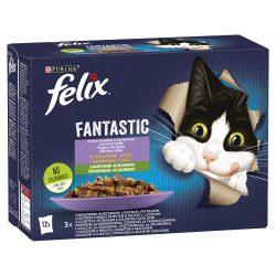 Félix 12x85g Fantastic Vegyes Válogatás Zöldséggel Aszpikban