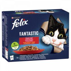Félix 12x85g Fantastic Házias Válogatás Aszpikban