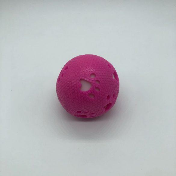 Gumilabda kutyajáték világítós-csörgős - kb 8cm - tappancs - rózsaszín