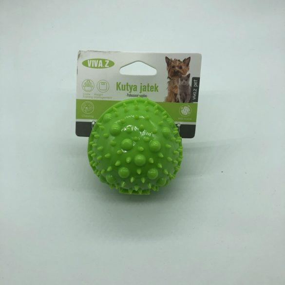 Felezett labda - fogzást segítő kutyajáték - világos zöld