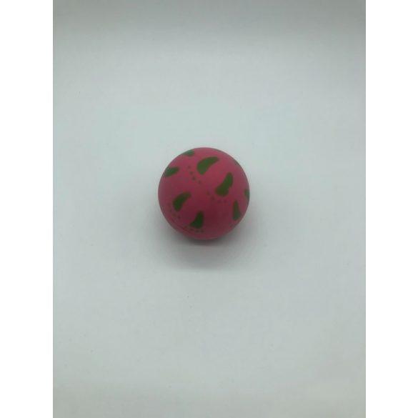Lábnyomos gumilabda - 7cm - rózsaszín