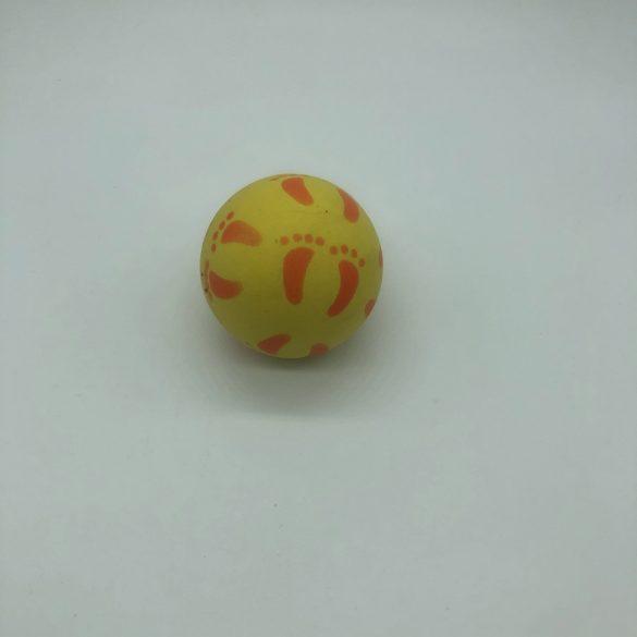 Lábnyomos gumilabda - 7cm - sárga