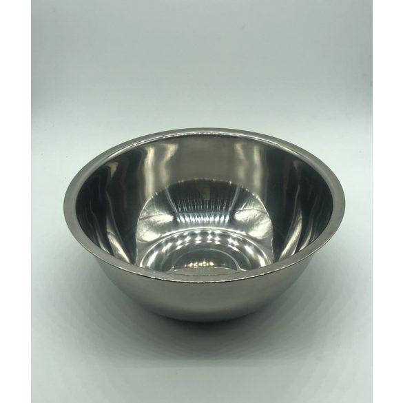 Itatótál / Etetőtál -  fém színű 22cm 1700ml