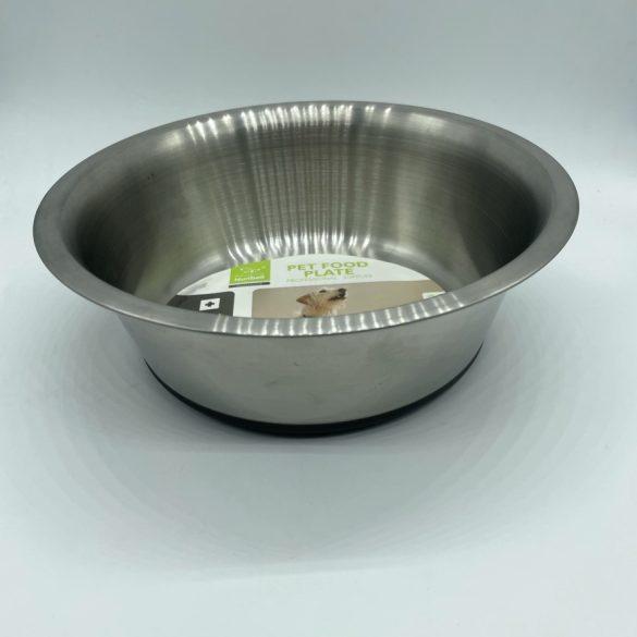 Itatótál / Etetőtál csúszásgátlóval -  fém színű 1500ml