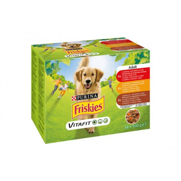 Friskies Dog Adult szószos Alutasakos kutyaeledel 12x100g