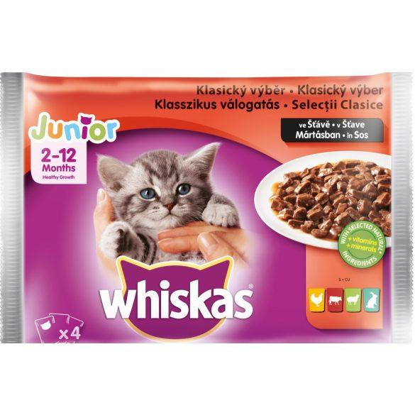Whiskas 4X100g Junior Klasszikus