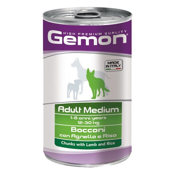 Gemon Dog Médium Bárány 1250g